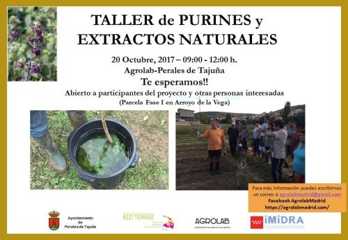 Taller de purines y estractos naturales
